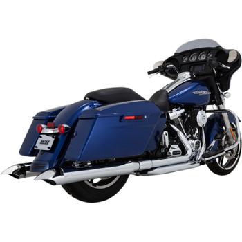 "Vance & Hines 4"" Classic Turn Down Slip-Ons Exhaust Mufflers for 2017-2018 Harley Touring - Chrome"