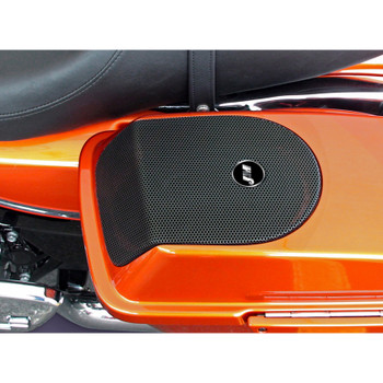 J & M Saddlebag Lid Kit with Rokker XXR Speakers for 1998-2013 Harley Touring