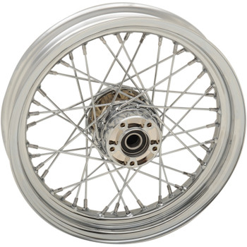 "Drag Specialties 16"" x 3"" Laced 40-Spoke Front Wheel for 2008-2017 Harley Touring with ABS"