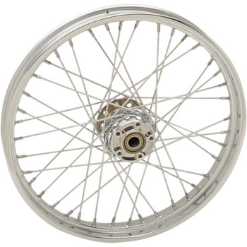 "Drag Specialties 21"" x 2.15"" Laced 40-Spoke Front Wheel for 2012-2017 Harley Softail with ABS"