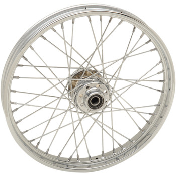 """Drag Specialties 21"""" x 2.15"""" Laced 40-Spoke Front Wheel for 2007-2017 Harley Softail Non-ABS"""