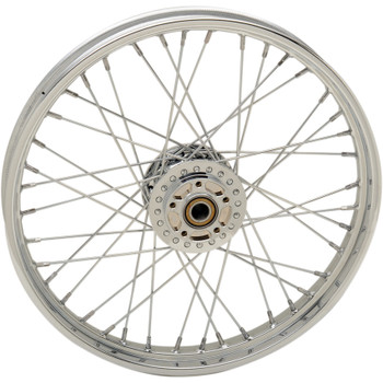 "Drag Specialties 21"" x 2.15"" Laced 40-Spoke Front Wheel for 2014-2018 Harley Sportster with ABS - Single Disc"