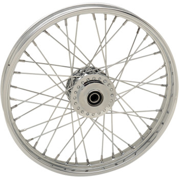 "Drag Specialties 21"" x 2.15"" Laced 40-Spoke Front Wheel for 2012-2018 Harley Sportster Non-ABS - Single Disc"