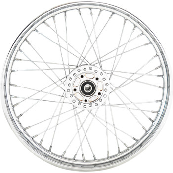"Drag Specialties 21"" x 2.15"" Laced 40-Spoke Front Wheel for 2006-2007 Harley Sportster - Single Disc"