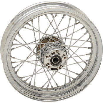 "Drag Specialties 16"" x 3"" Laced 40-Spoke Rear Wheel for 2014-2018 Harley Sportster with ABS"