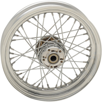 "Drag Specialties 16"" x 3"" Laced 40-Spoke Rear Wheel for 2008-2018 Harley Sportster Non-ABS"