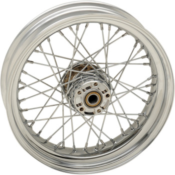 """Drag Specialties 17"""" x 4.5"""" Laced 40-Spoke Rear Wheel for 2008-2017 Harley Dyna Non-ABS"""