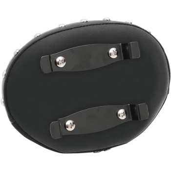 Drag Specialties Oval Backrest Pad for Harley - Smooth with Studs