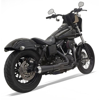 Bassani Road Rage Short Exhaust for 2006-2017 Harley Dyna - Black