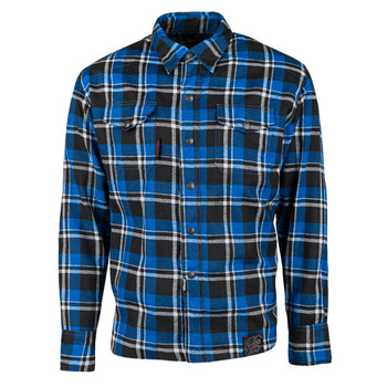 Speed and Strength Black Nine Reinforced Moto Flannel Shirt - Blue/Black