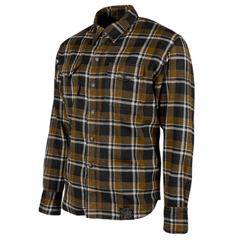 Speed and Strength Black Nine Reinforced Moto Flannel Shirt - Brown/Black