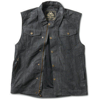 Roland Sands Ramone Perforated Textile Vest - Black