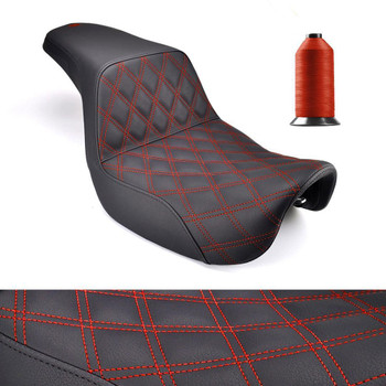 Black with Red Lattice Stitch Saddlemen 806-04-172RD Step-Up LS Seat