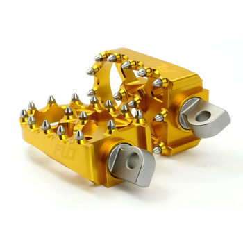 Flo Motorsports Moto Style Foot Pegs for Harley - Gold
