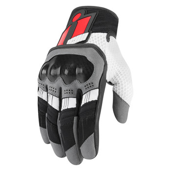 Icon Overlord Gloves - Red