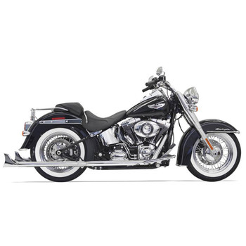 "Bassani Chrome 33"" True Duals Exhaust with 2.25"" Fishtail Mufflers for 2007-2017 Harley Softail - Baffled"