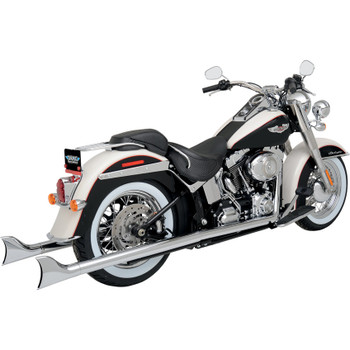 Python Chrome Fishtail Duals Exhaust for 2012-2017 Harley Softail