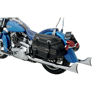 Python Chrome Fishtail Duals Exhaust for 1997-2011 Harley Softail