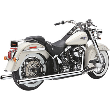 Cobra Chrome Dual Exhaust System with Billet Tips for 1997-2006 Harley Softail