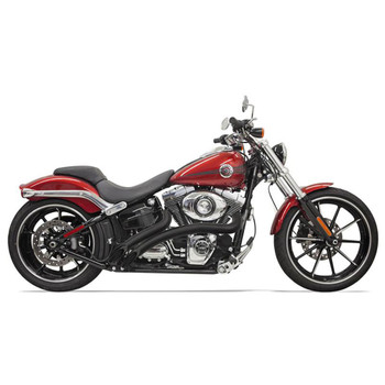 Bassani Radial Sweepers Exhaust for Harley - Black with Black Shields