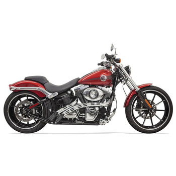 Bassani Radial Sweepers Exhaust for Harley - Black with Chrome Slotted Shields