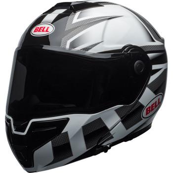 Bell SRT Modular Helmet - Gloss White/Black Predator