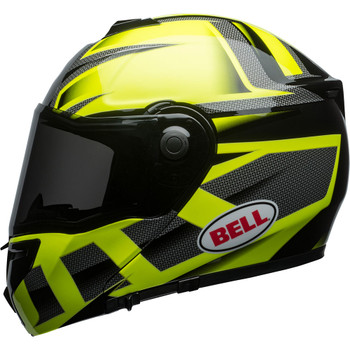 Bell SRT Modular Helmet - Gloss Hi-Viz Green/Black Predator