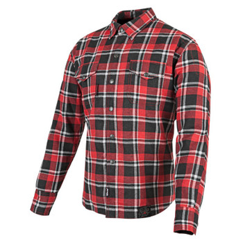 Speed and Strength Black Nine™ Reinforced Moto Flannel Shirt - Red/Black