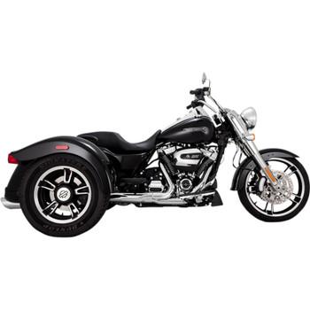 "Vance & Hines 4"" Twin Slash Slip-On Exhaust Mufflers for Harley Freewheeler  - Chrome"