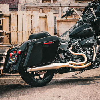 """Bassani Stainless Road Rage 3 Exhaust System with 4"""" Straight Can for 2017-2020 Harley Touring"""
