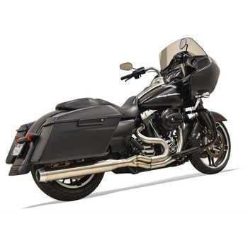 "Bassani Stainless Road Rage 3 Exhaust System with 4"" Straight Can for 2017-2018 Harley Touring"