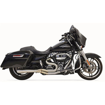 Bassani Stainless Road Rage 3 Exhaust System with Short Megaphone for 2017-2020 Harley Touring
