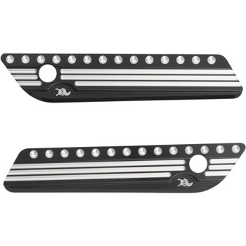 Ken's Factory Saddlebag Latch Covers for 2014-2018 Harley Touring - Black