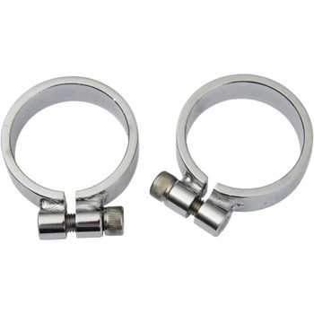 Drag Specialties Super Exhaust Port Clamps for Harley Ironhead