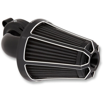 Arlen Ness Beveled Monster Sucker Air Cleaner for 1991-2018 Harley Sportster - Black