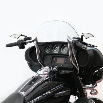 """Paul Yaffe Bagger Nation 12"""" Monkey Bagger Bars for 1986-2018 Harley Touring - Chrome"""