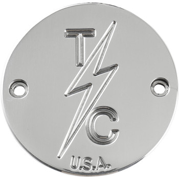 Thrashin Supply 2-Hole Points Cover for Harley - Polished