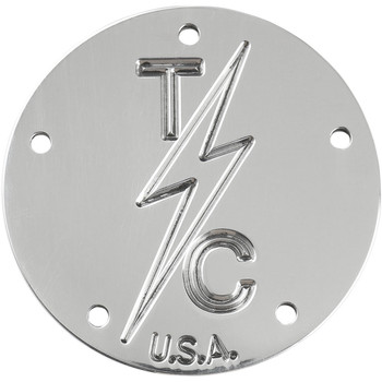 Thrashin Supply 5-Hole Points Cover for Harley Twin Cam - Polished
