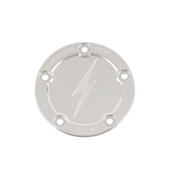Thrashin Supply 5-Hole Dished Points Cover for Harley Twin Cam - Polished