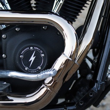 Thrashin Supply 5-Hole Dished Points Cover for Harley Twin Cam - Black
