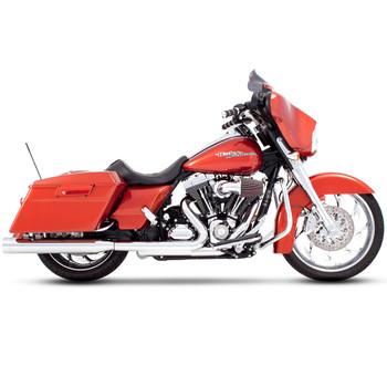 "Rinehart 4"" Slip-On Exhaust Mufflers for 1995-2016 Harley Touring - Chrome with Chrome Tips"