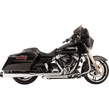 S&S Tracer El Dorado True Dual Exhaust System for 2017-2018 Harley Touring - Chrome