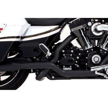 "Rinehart 4"" Xtreme True Dual Exhaust for 2009-2016 Harley Touring - Black with Chrome Tips"