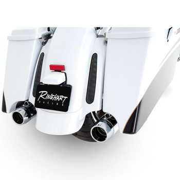 "Rinehart 3.5"" Xtreme True Dual Exhaust for 2009-2016 Harley Touring - Chrome with Chrome Tips"