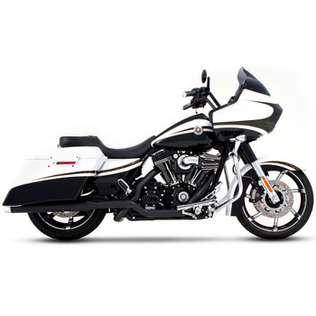 "Rinehart 3.5"" Xtreme True Dual Exhaust for 2009-2016 Harley Touring - Black with Chrome Tips"