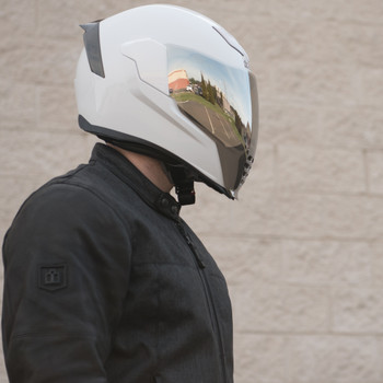 Icon Airflite RST Silver Face Shield