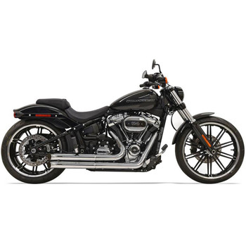 Bassani Pro Street Turn Out Exhaust for 2018 Harley Softail Breakout & Fat Boy - Chrome