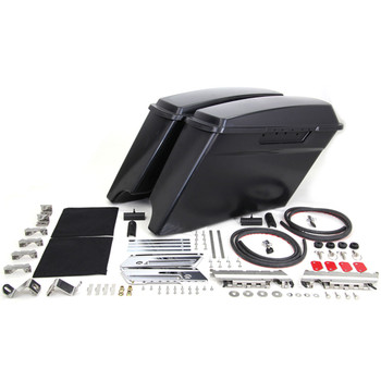 V-Twin Mfg. Stretched CVO Style Saddlebag Kit for 1993-2013 Harley Touring