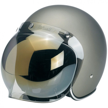 Biltwell Anti-Fog Bubble Shield - Gold Mirror