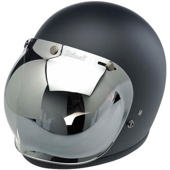 Biltwell Anti-Fog Bubble Shield - Chrome Mirror